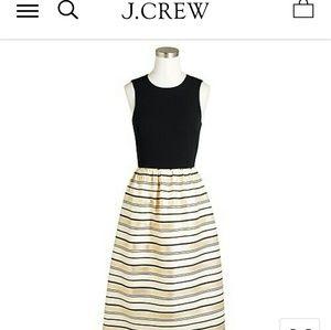 JCrew Black and Gold Dress